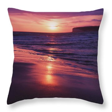 Throw Pillow featuring the photograph Beach Sunset by Will Gudgeon
