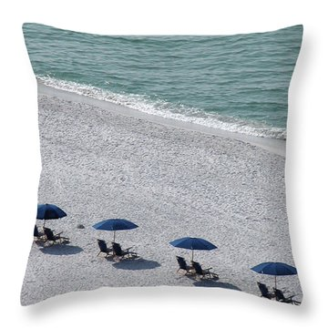 Throw Pillow featuring the photograph Beach Therapy 1 by Marie Hicks