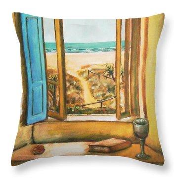 Beach Window Throw Pillow