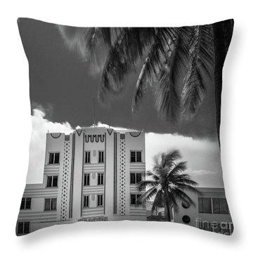 Beacon Hotel Miami Throw Pillow