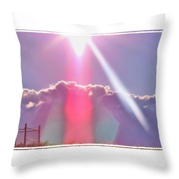 Throw Pillow featuring the photograph Beam Me Up by Shirley Moravec