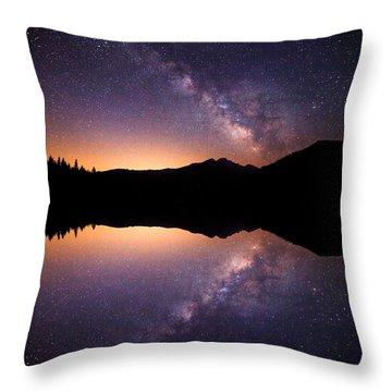 Bear Lake Milky Way Throw Pillow