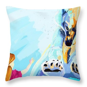 Bear Throw Pillow by Lidija Ivanek - SiLa