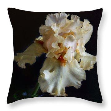 Throw Pillow featuring the photograph Bearded Iris 4 by Elena Nosyreva