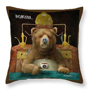 Bearista... Throw Pillow