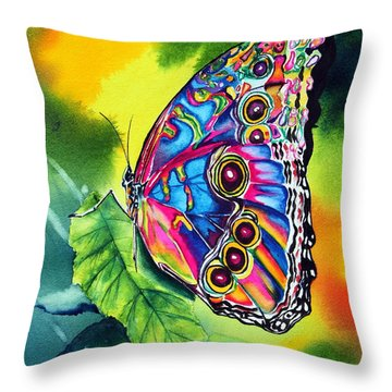 Beatrice Butterfly Throw Pillow by Maria Barry