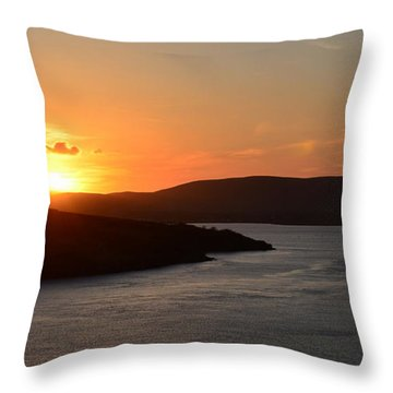 Throw Pillow featuring the photograph Beautiful Evening In  Dingle by Barbara Walsh