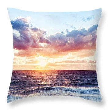 Beautiful Sea Landscape Throw Pillow