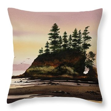 Throw Pillow featuring the painting Beautiful Shore by James Williamson