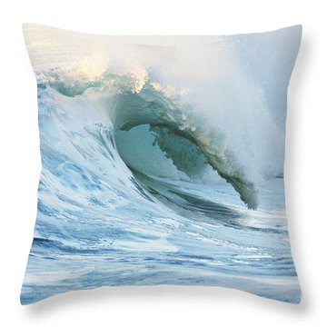 Beautiful Wave Breaking Throw Pillow by Vince Cavataio - Printscapes