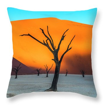 Beauty Lives Forever. Throw Pillow