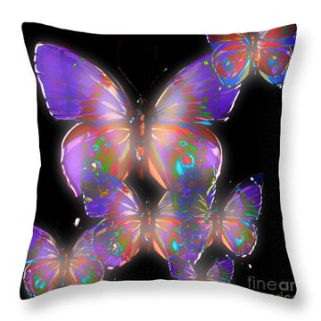 Beauty Of Butterflies Throw Pillow