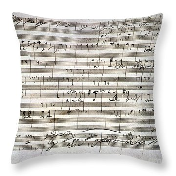 Beethoven Manuscript Throw Pillow
