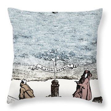 Behavior Of Falling Bodies Throw Pillow by Omikron