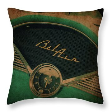 Throw Pillow featuring the photograph Belair Dashboard by Joel Witmeyer