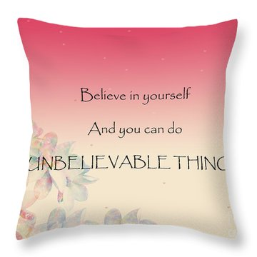 Throw Pillow featuring the digital art Believe by Trilby Cole