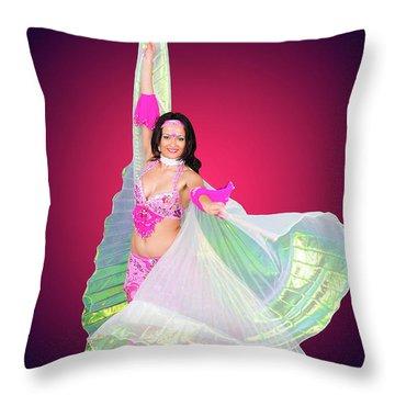Belly Dancer  Throw Pillow by Ilan Rosen
