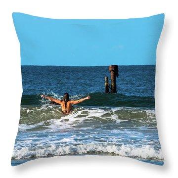 Belongil Beach Throw Pillow