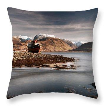 Ben Nevis Throw Pillow by Grant Glendinning