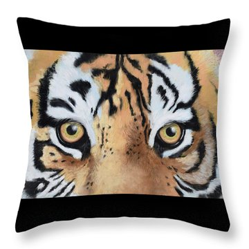 Bengal Eyes Throw Pillow