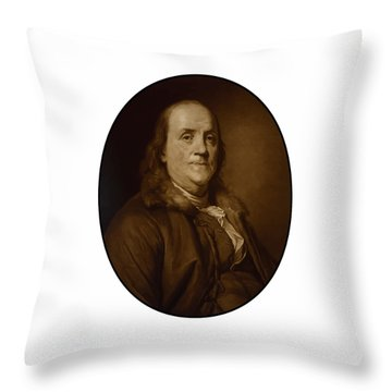 Benjamin Franklin - Three Throw Pillow