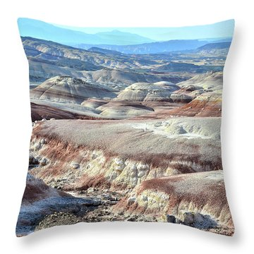 Bentonite Clay Dunes In Cathedral Valley Throw Pillow