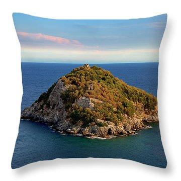 Bergeggi Island Throw Pillow