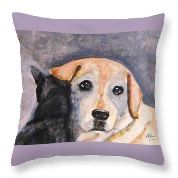 Best Friends Throw Pillow by Angela Davies
