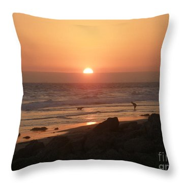 Best Friends At The Beach Throw Pillow