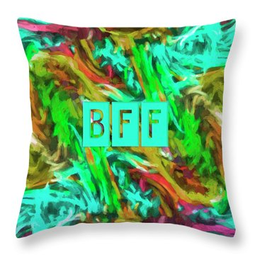 Throw Pillow featuring the photograph Best Friends Forever by Bonnie Bruno