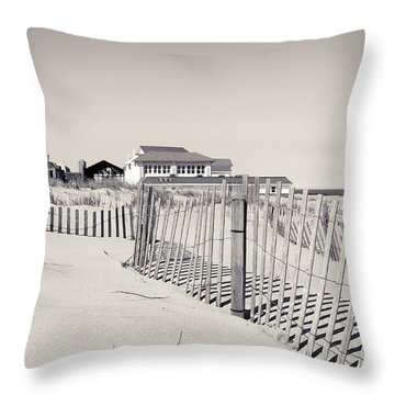 Throw Pillow featuring the photograph Beyond The Dunes by Colleen Kammerer