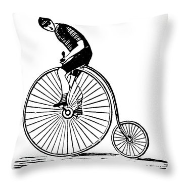 Bicycling Throw Pillow by Granger