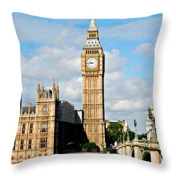 Big Ben Throw Pillow by Pravine Chester