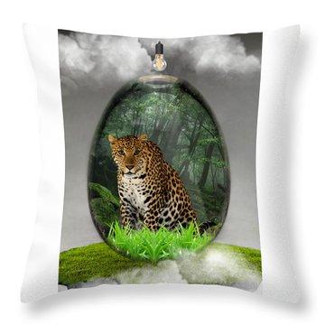 Big Cat Leopard Art Throw Pillow