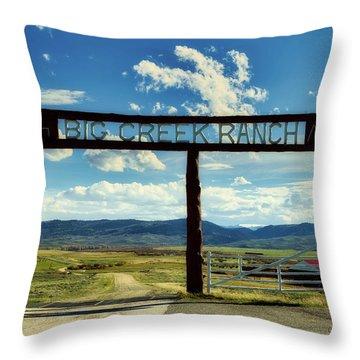 Big Creek Ranch Throw Pillow by L O C