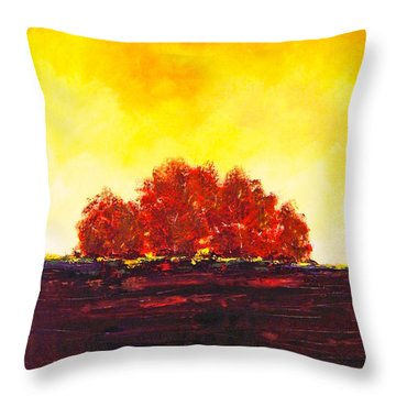 Throw Pillow featuring the painting Big Red by William Renzulli