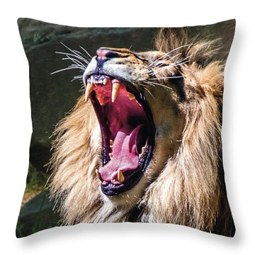 Big Yawn Throw Pillow