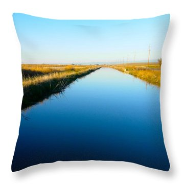 Biggs Canal Throw Pillow