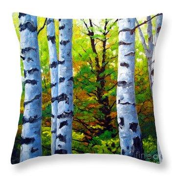 Birch Buddies Throw Pillow
