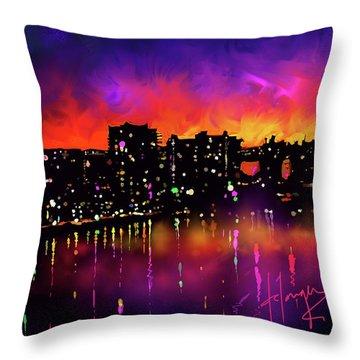 Biscayne Bay, Miami Throw Pillow