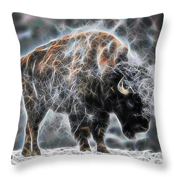Bison Collection Throw Pillow