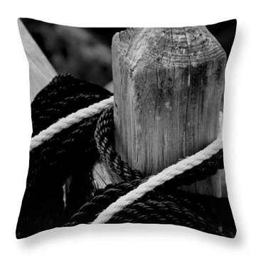 Throw Pillow featuring the photograph Black And White by Corinne Rhode