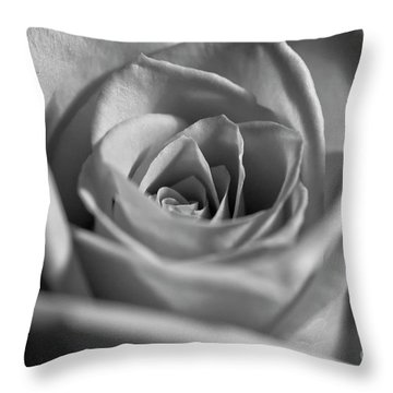 Throw Pillow featuring the photograph Black And White Rose by Micah May