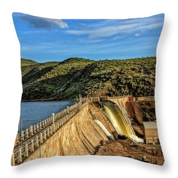 Throw Pillow featuring the photograph Black Canyon Dam by Robert Bales