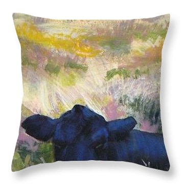 Black Cow Dartmoor Throw Pillow