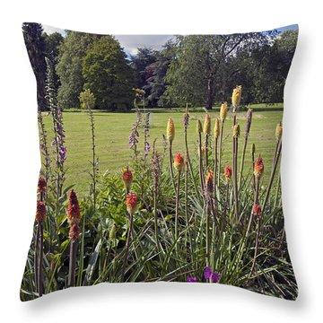Blarney Castle Grounds Throw Pillow