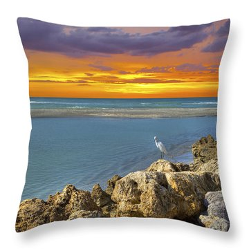 Blind Pass Sunset Throw Pillow