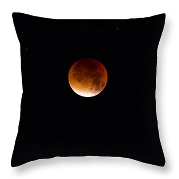 Blood Moon Super Moon 2015 Throw Pillow by Clare Bambers