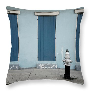 Blue And Silver At 1243 Throw Pillow