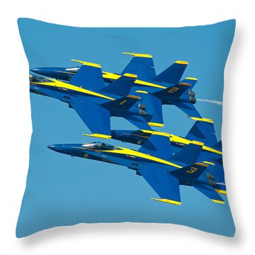 Blue Angels Throw Pillow by Sebastian Musial